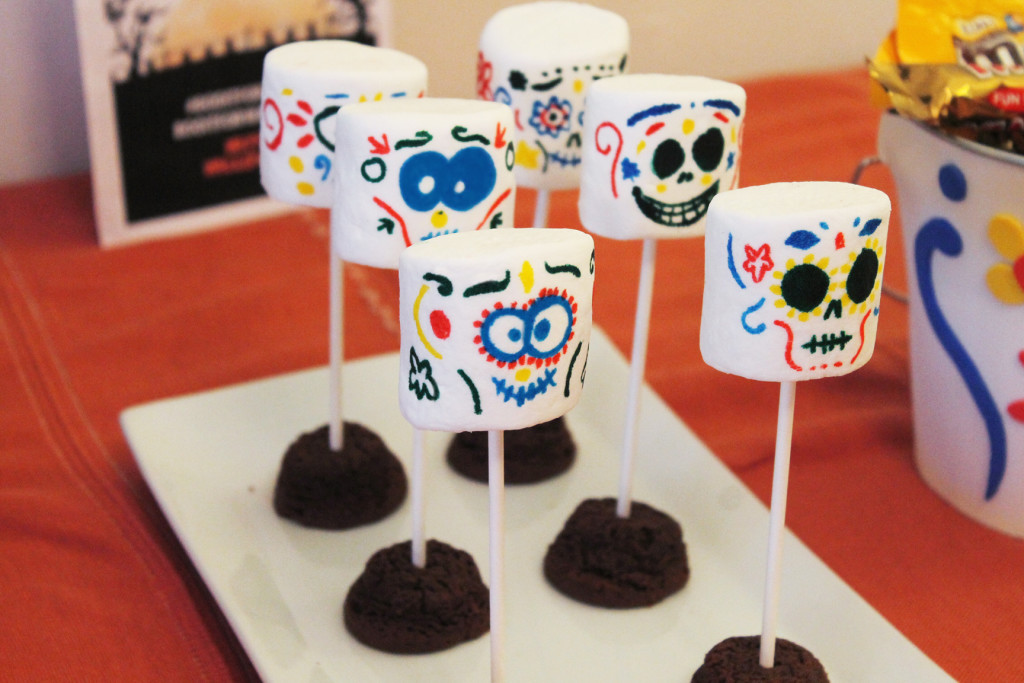Marshmallow Skulls with a Browne base