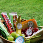 healthy fruit and treat basket