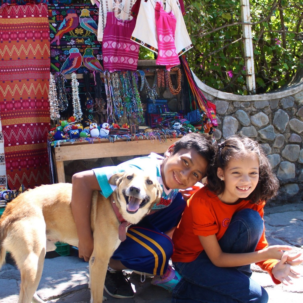 Making new friends in Santa Catarina Palopó on the shores of Lake Atitlán.