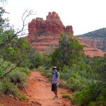 hiker in Sedona