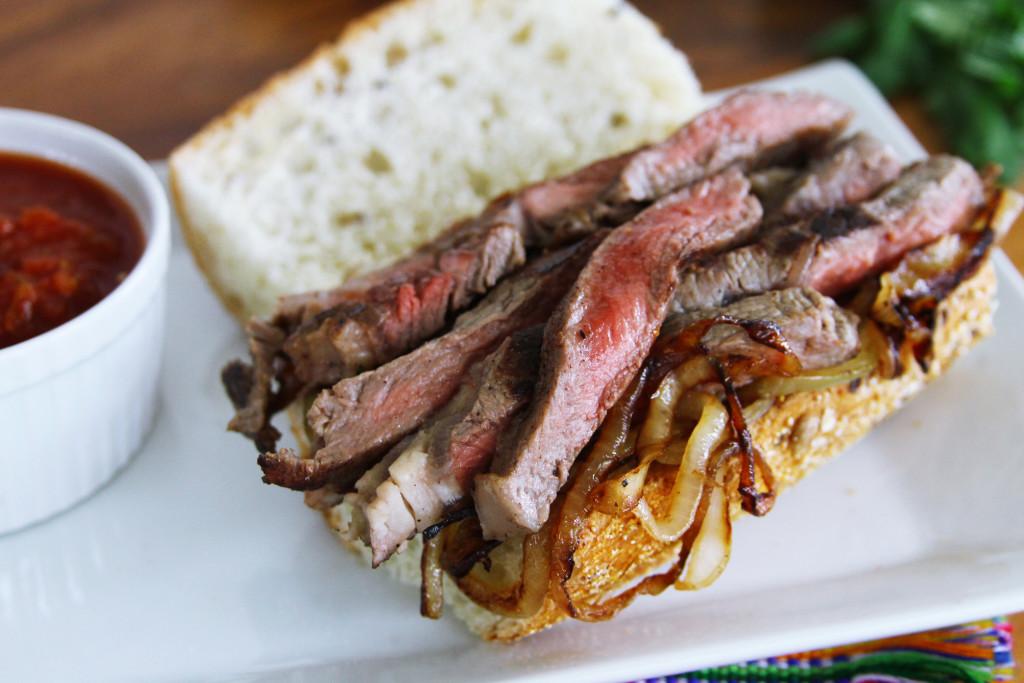 steak strips Bistec sandwich