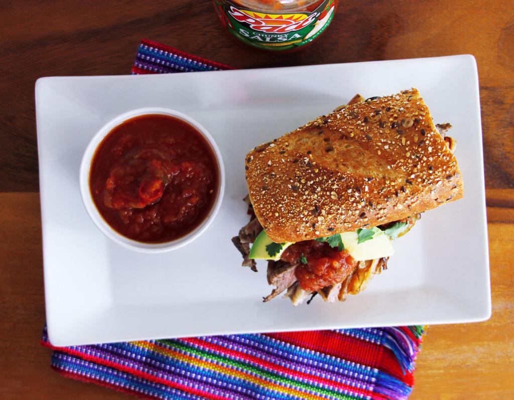 Bistec Picado with Pace medium Salsa