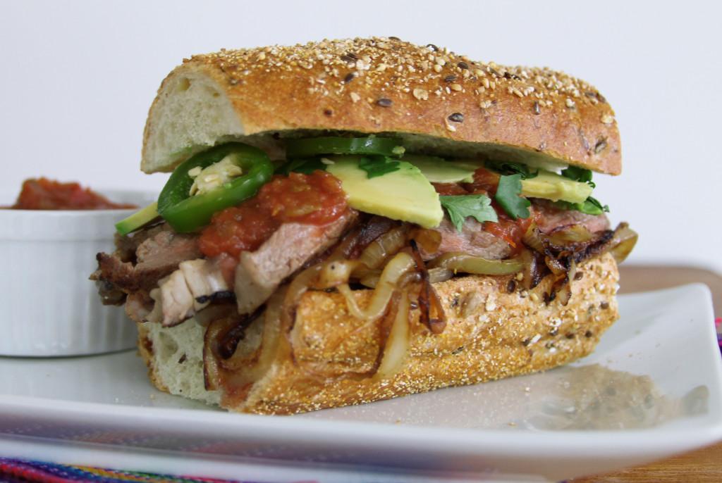 pace salsa Bistec sandwich