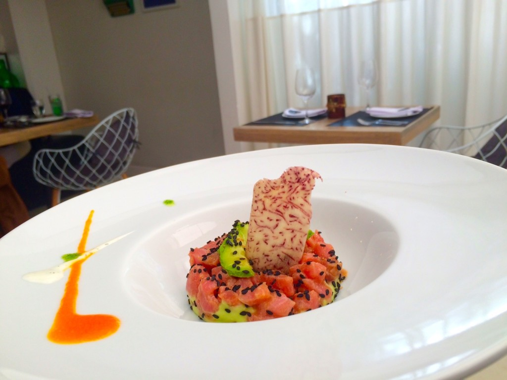 Tuna and avocado appetizer at Gracia Cocina De Autor in Guatemala City.
