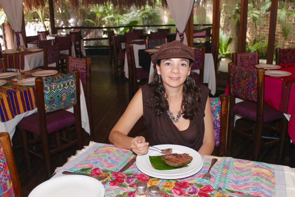 eating at Kacao restaurant in Guatemala City