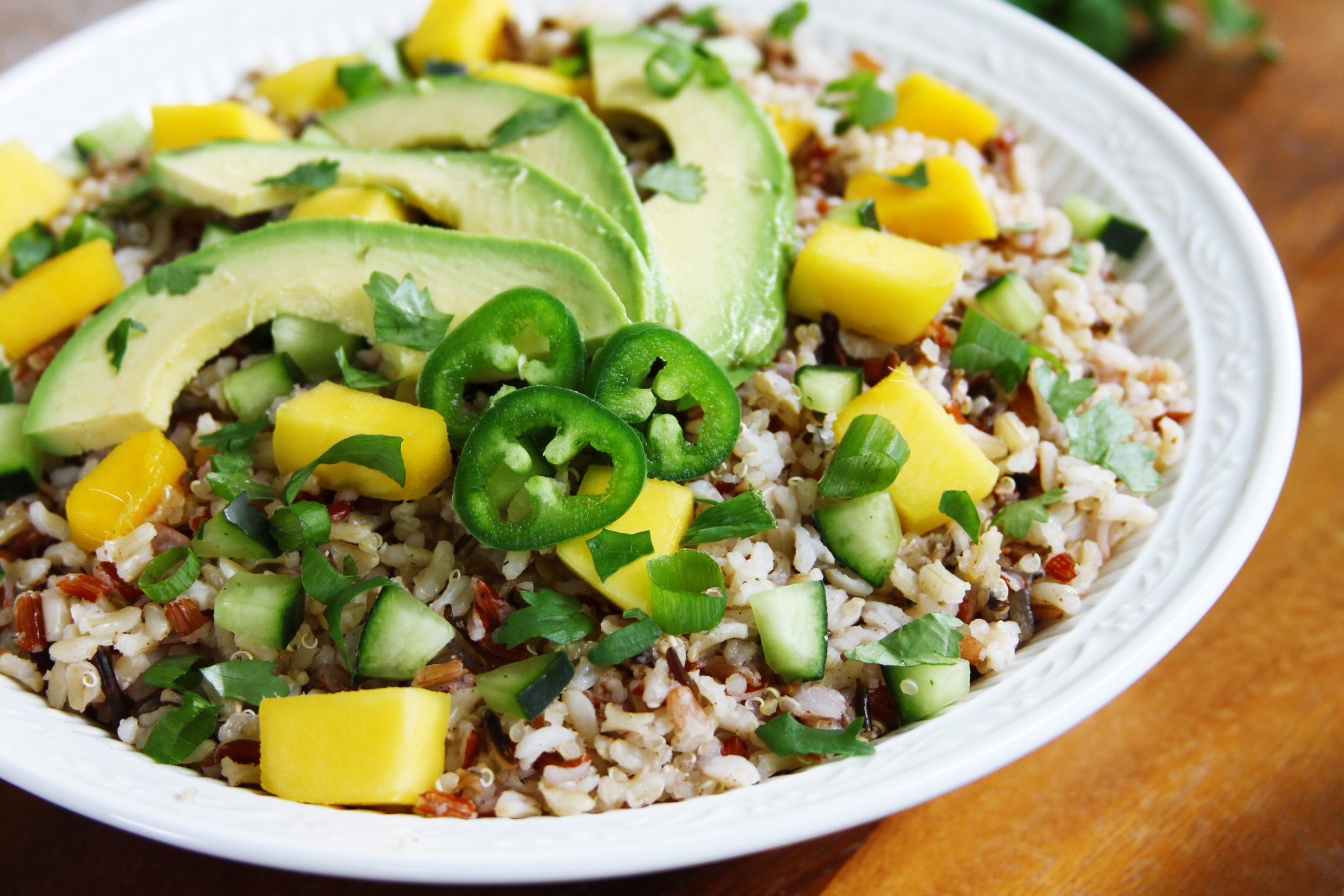 Mango-Cucumber Brown Rice Salad And The Importance Of Family Meals ...