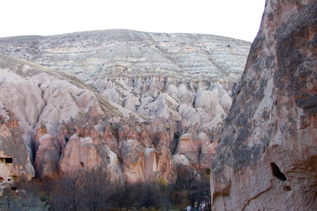 Rock formations near Zelve open air museum