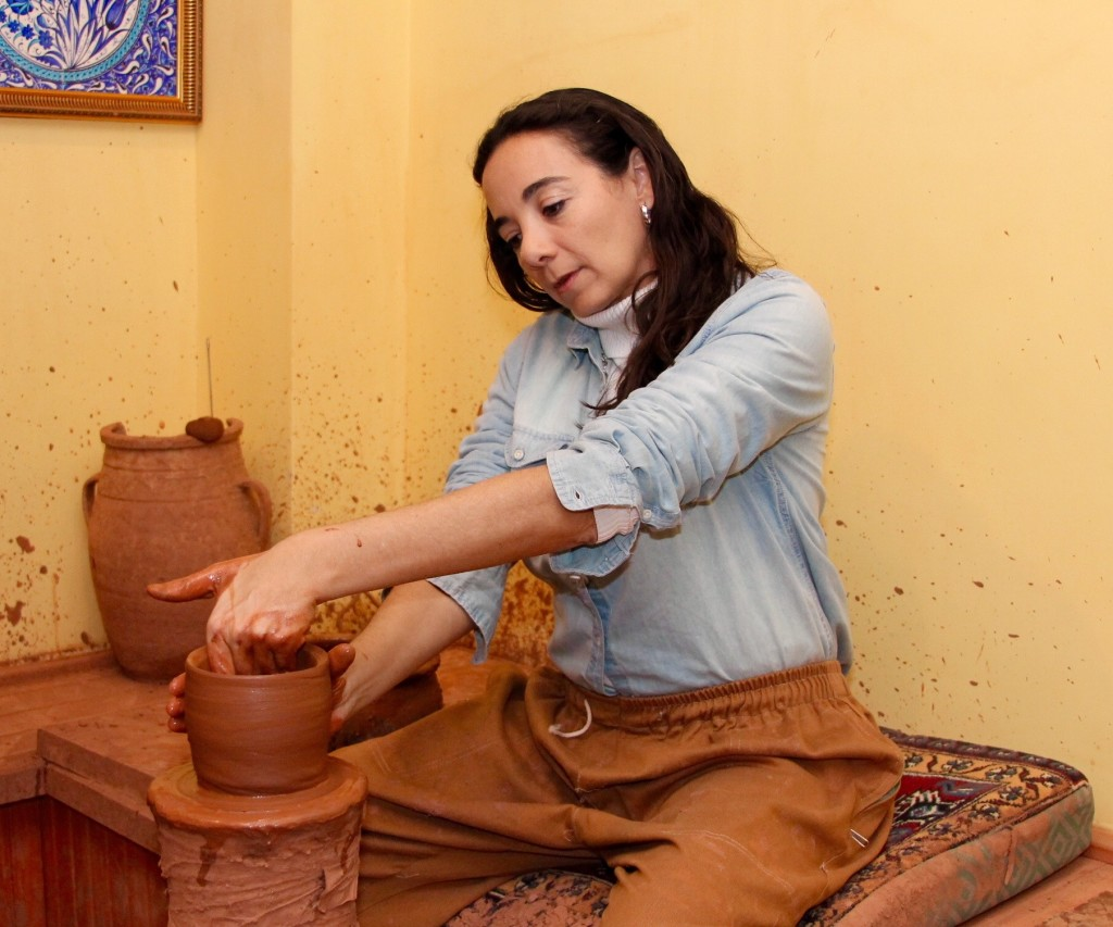 Learning to make traditional terracota in Cappadocia