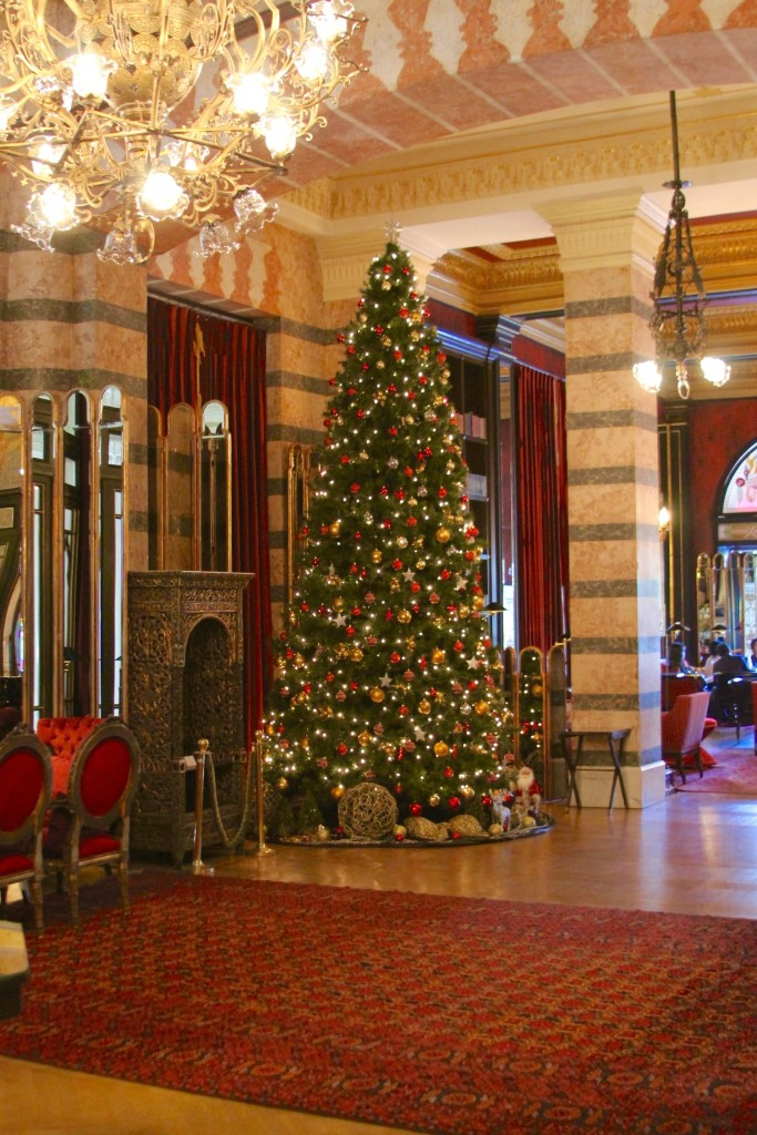 Pera Palace lobby with Christmas Tree