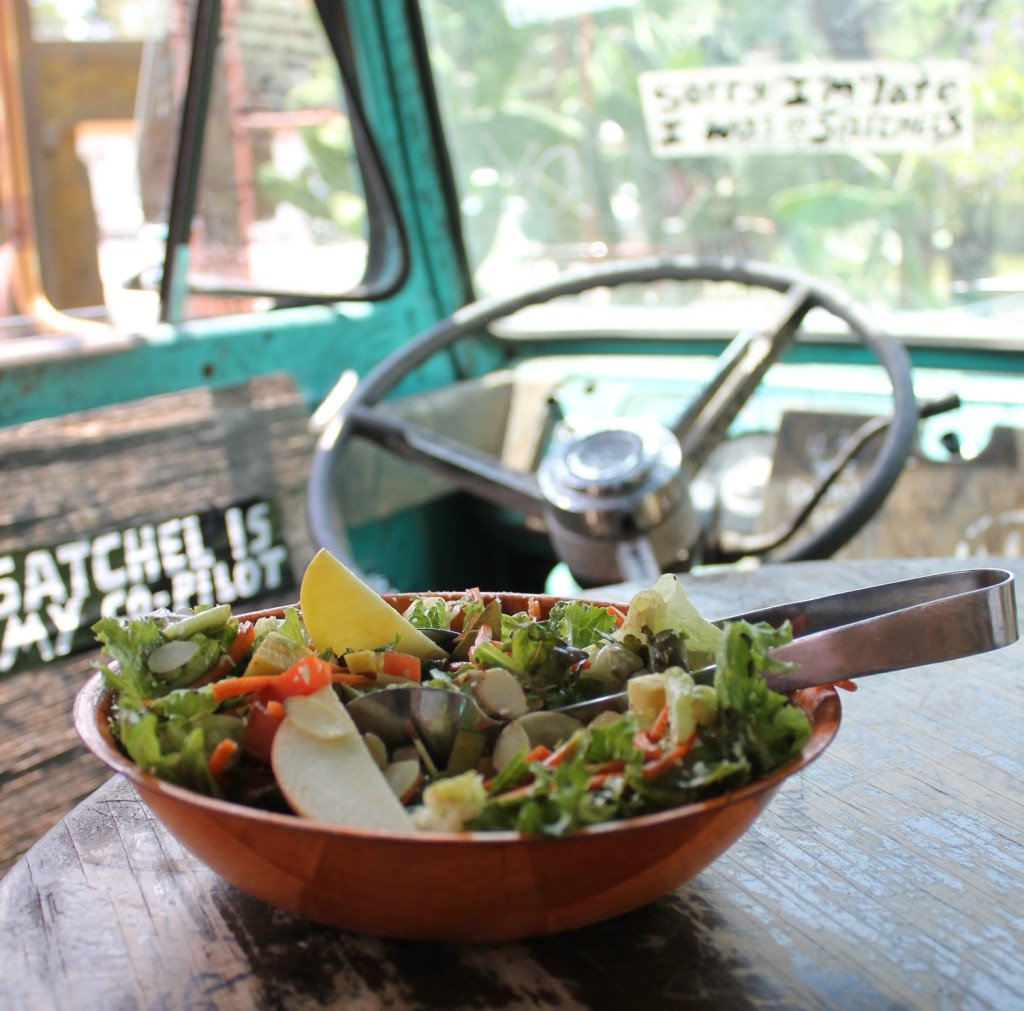 Salad at Satchel's Pizza