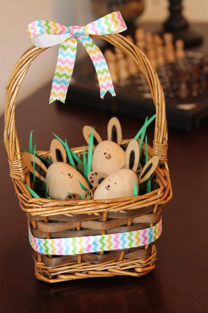 Diy Easter Egg Basket Decoration Growing Up Bilingual
