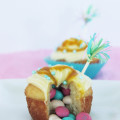 passion fruit piñata Easter cupcakes