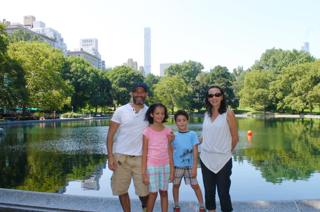 family in Central Park
