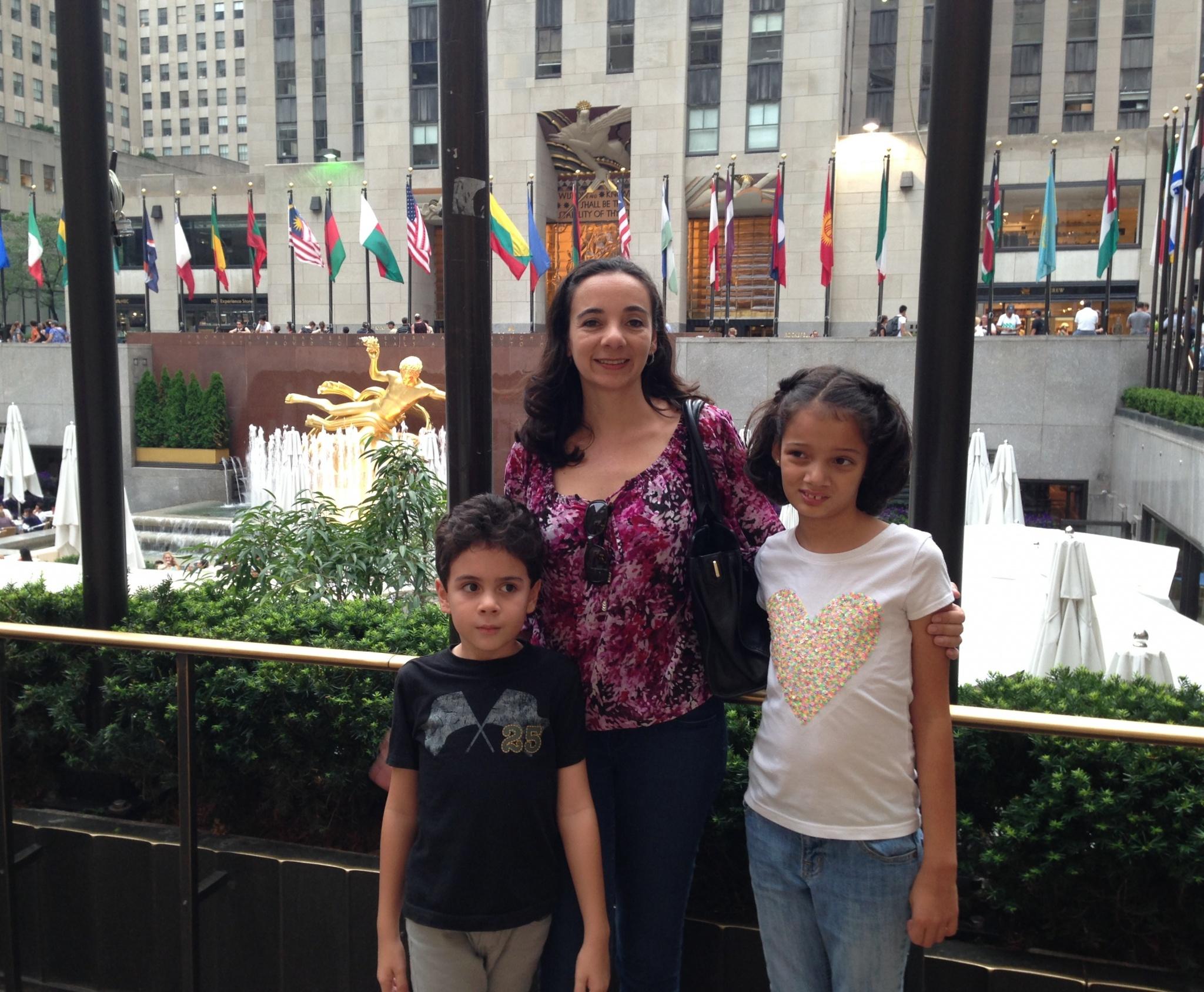 Visiting Rockefeller Center with kids