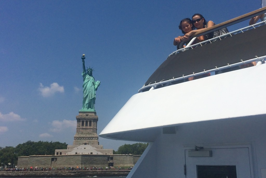 Seeing the Statue of Liberty aboard the Spirit of New York Cruise.