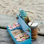 DIY Picnic Caddy at the beach 2