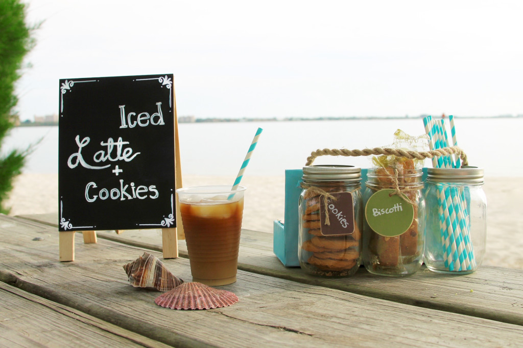 The Dunkin' Donuts® single serve creamers for ice coffee with picnic caddy