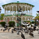 Parque Central with Victorian architecture in Puerto Plata Dominican Republic