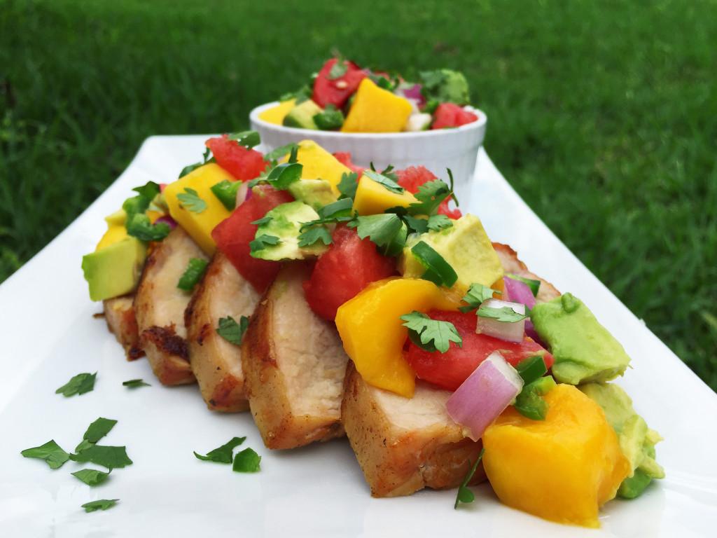 watermelon, avocado and mango salsa