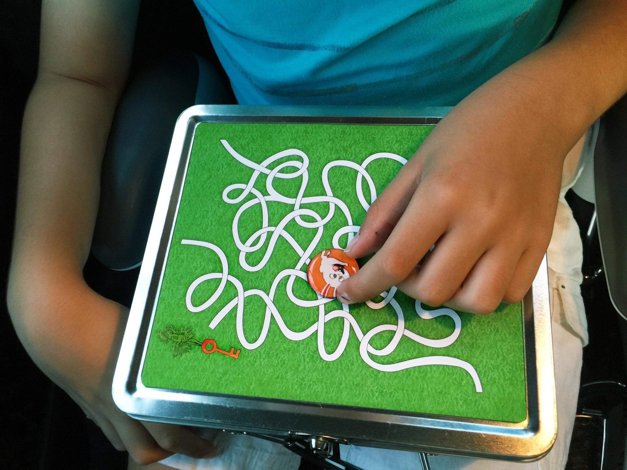 kids with printable maze 2