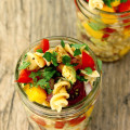 Easy and healthy tomato, mango and avocado pasta salad recipe