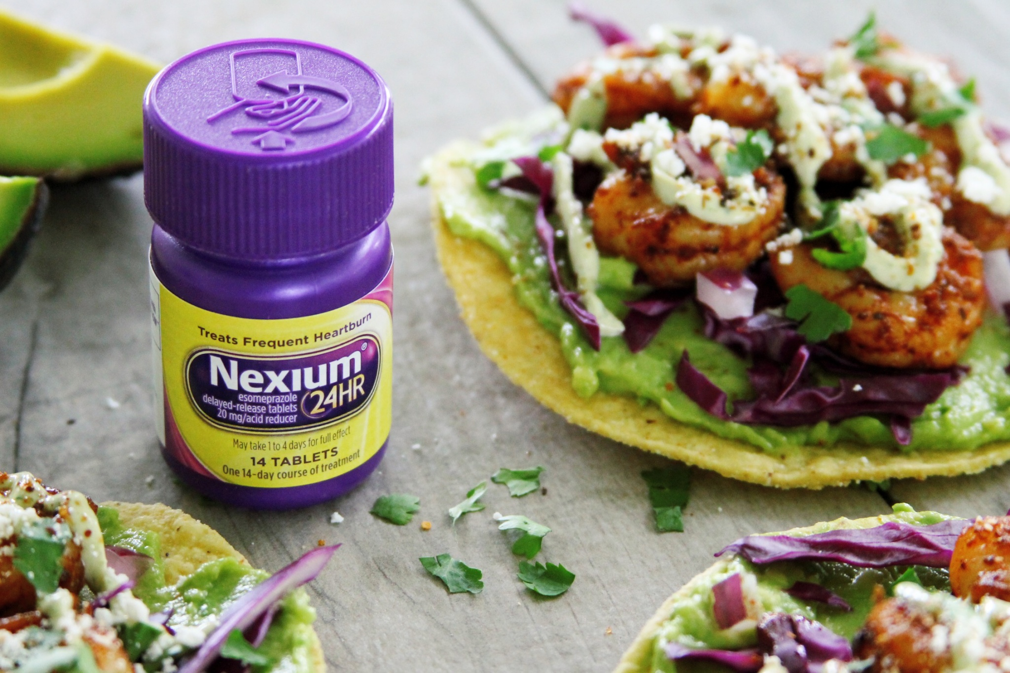 Nexium is perfect for spicy food