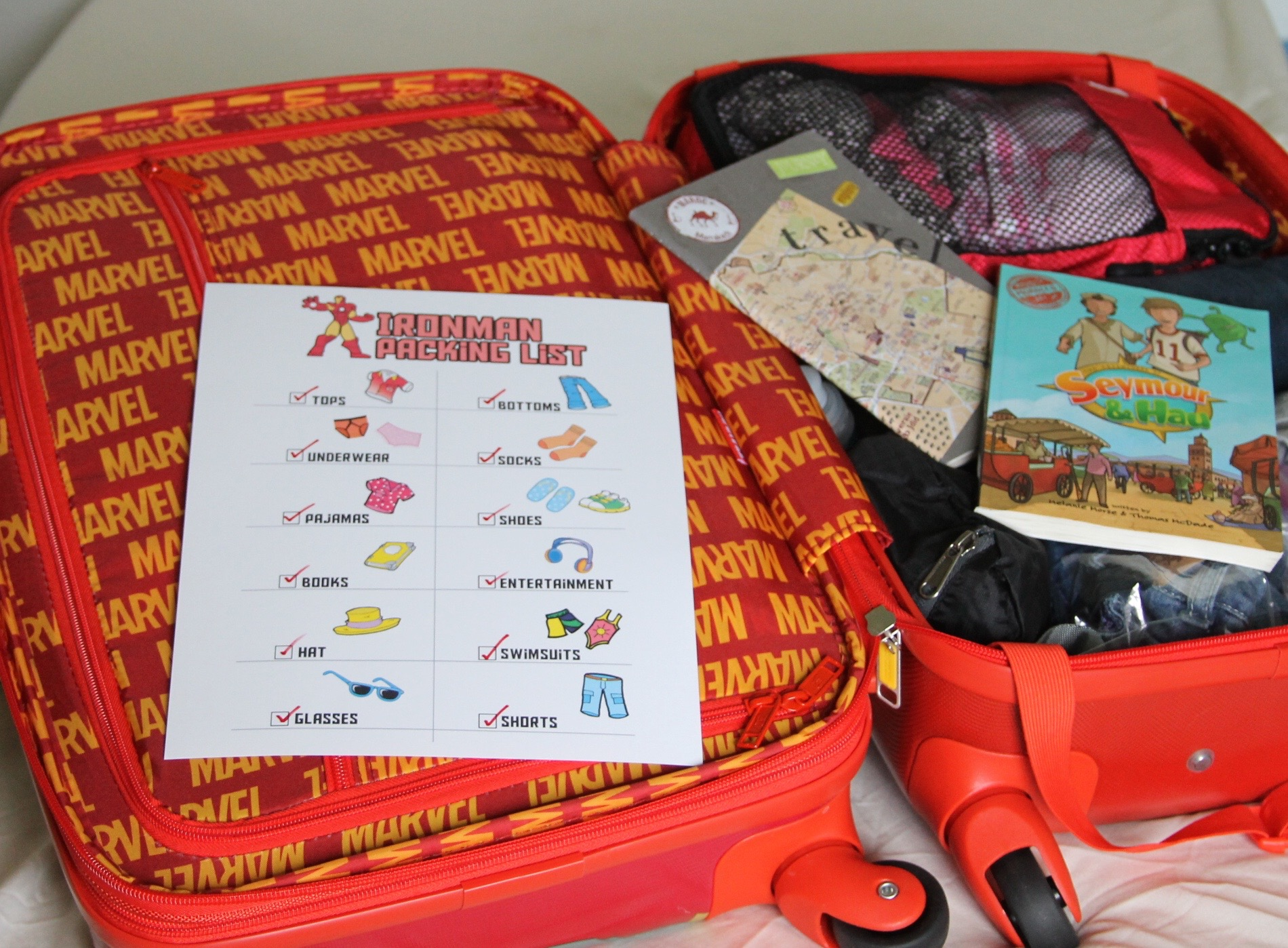 Iron man travel packing list for kids