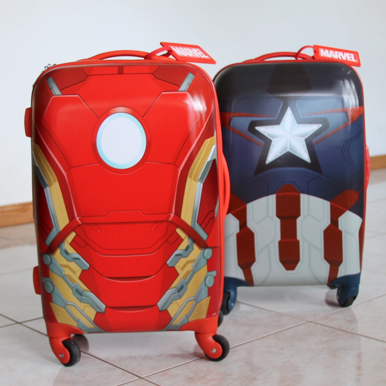 American Tourister superhero luggage