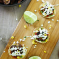 vegetable mini tostadas appetizers