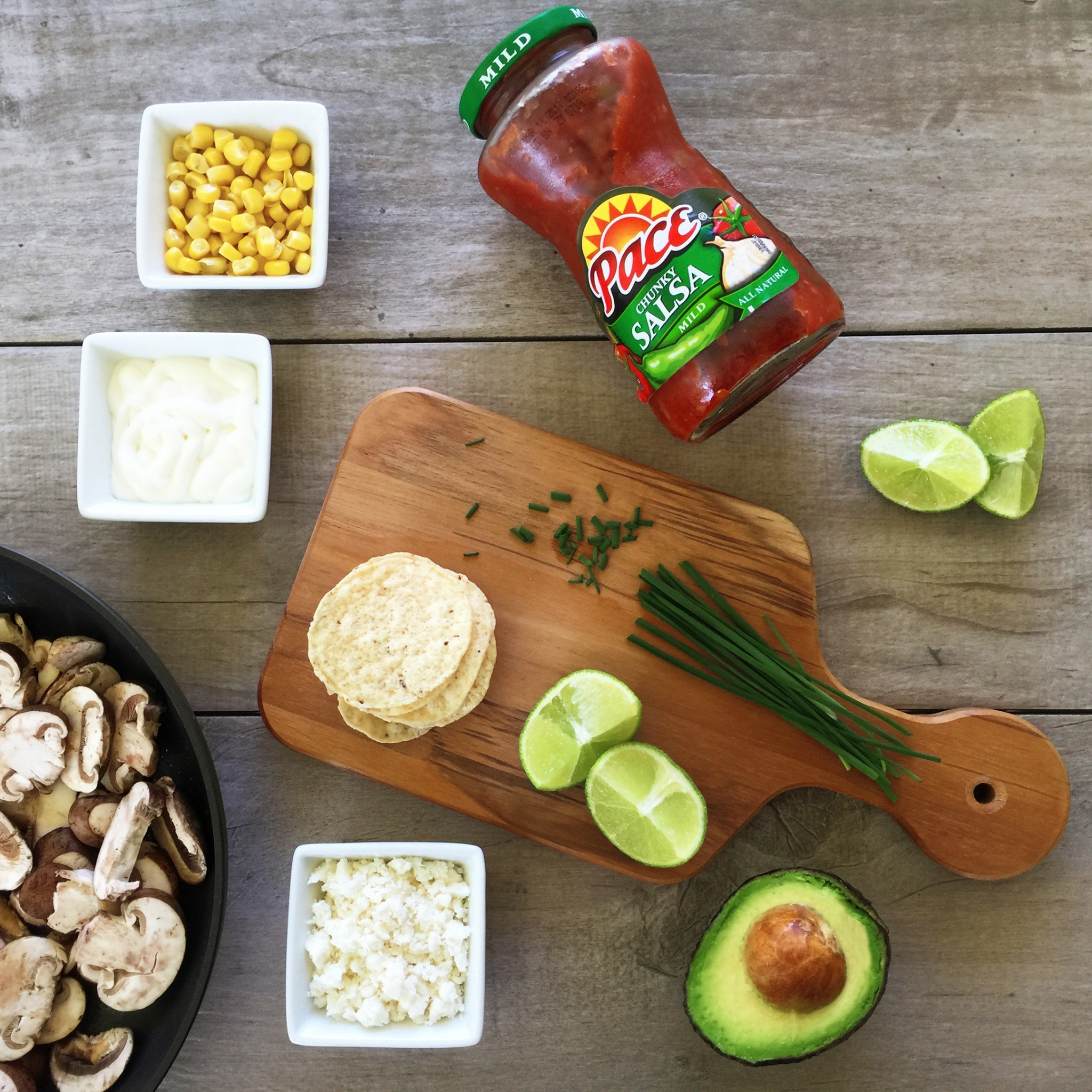 vegetable mini tostadas appetizers