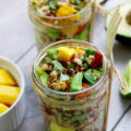 5 minute avocado and mango rice salad