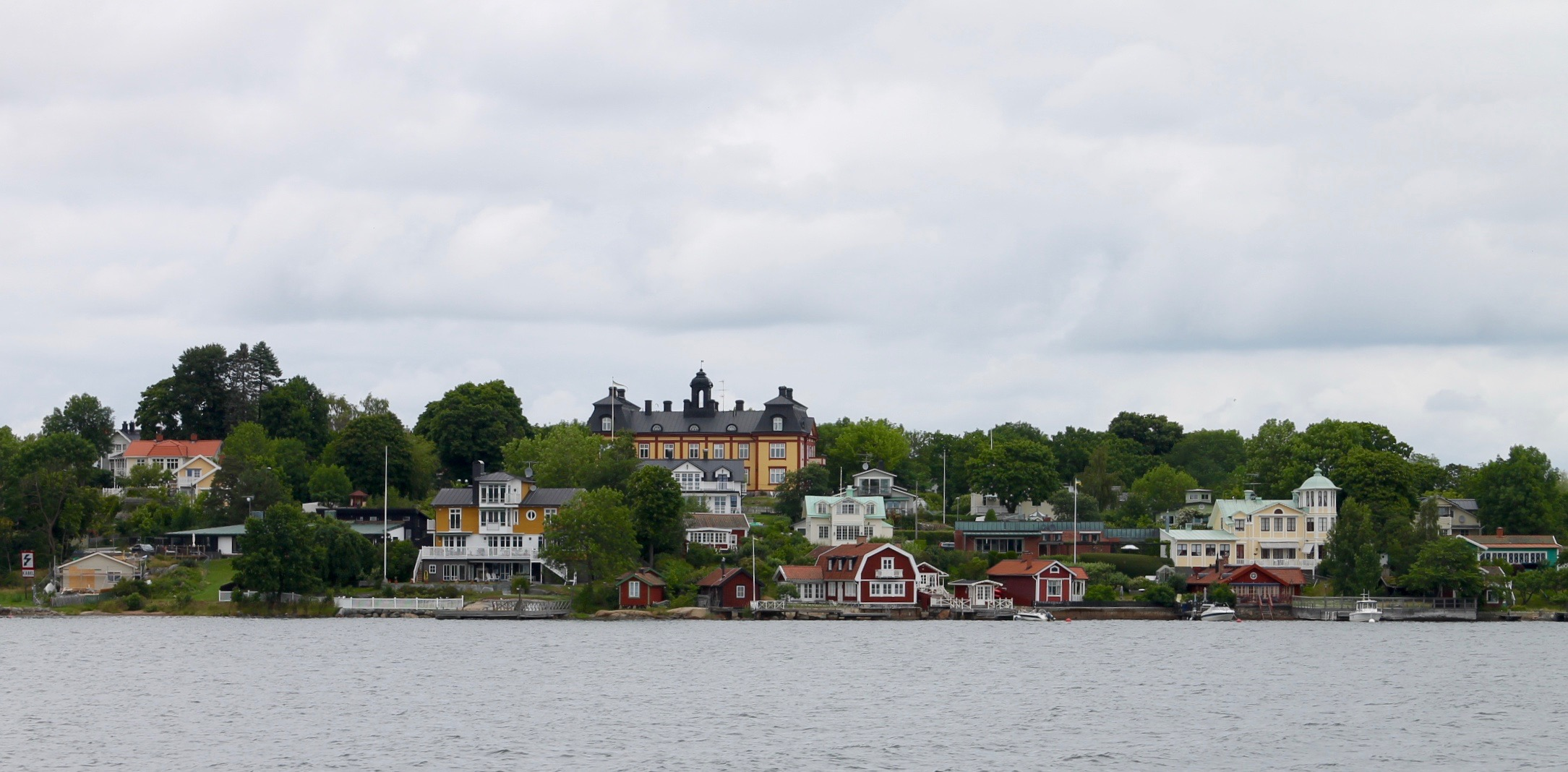 View of Vaxholm from the water