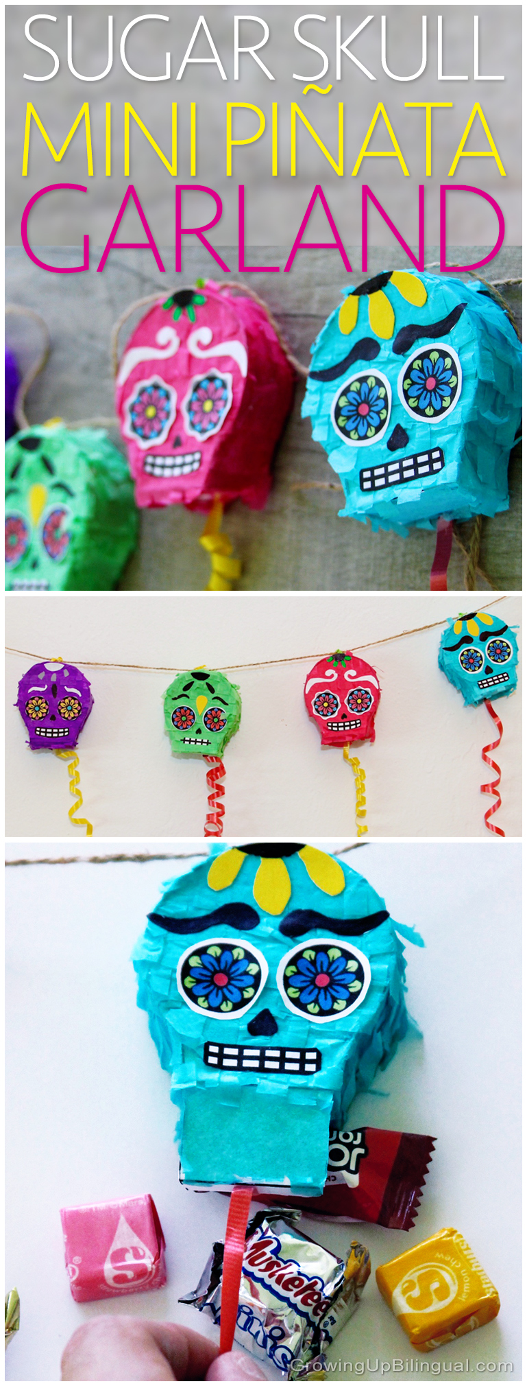 Day of the Dead Sugar Skull mini piñata