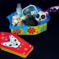 Day of the Dead dog sugar skull coffin gift box