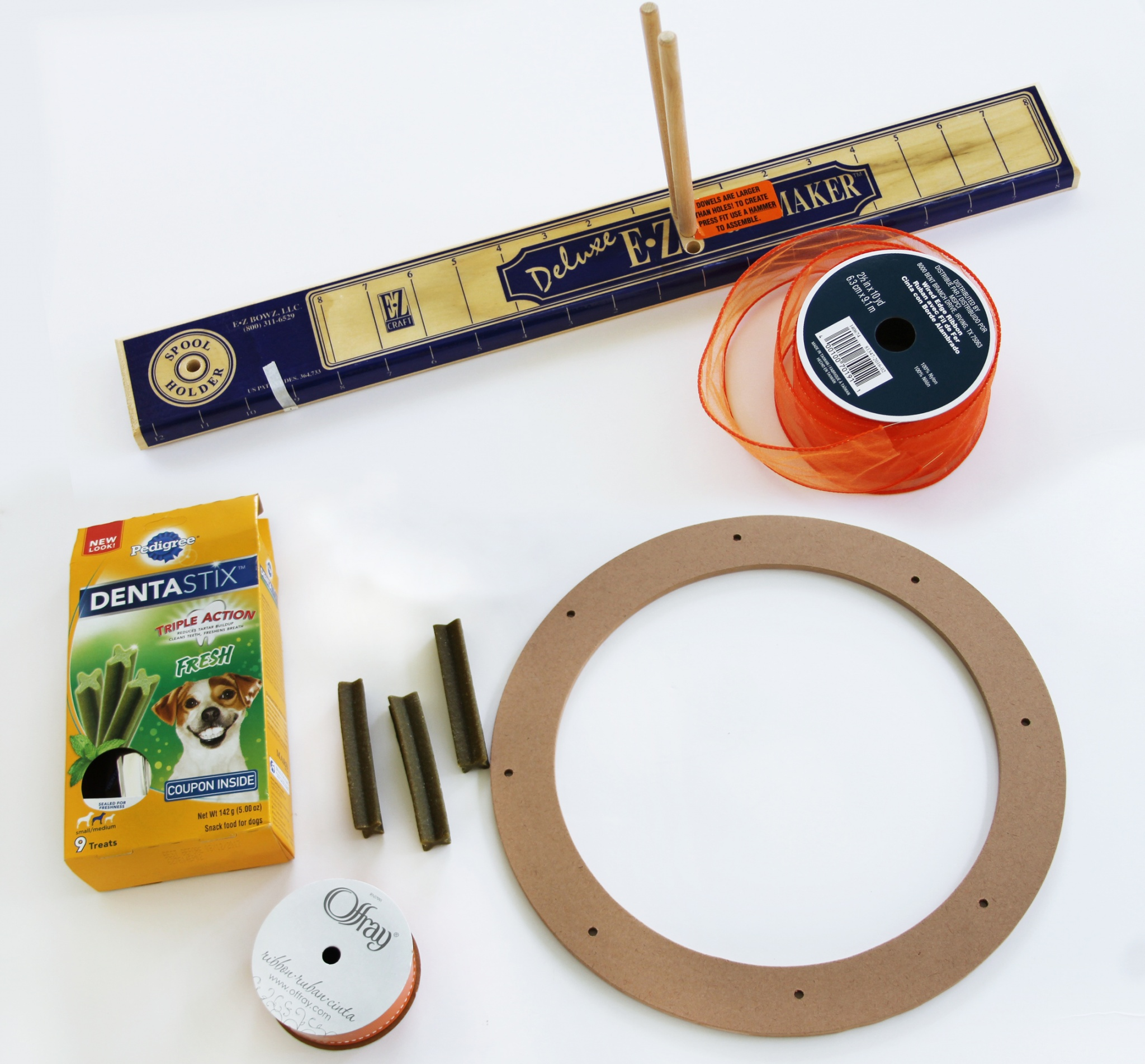 materials for making a pet treat wreath