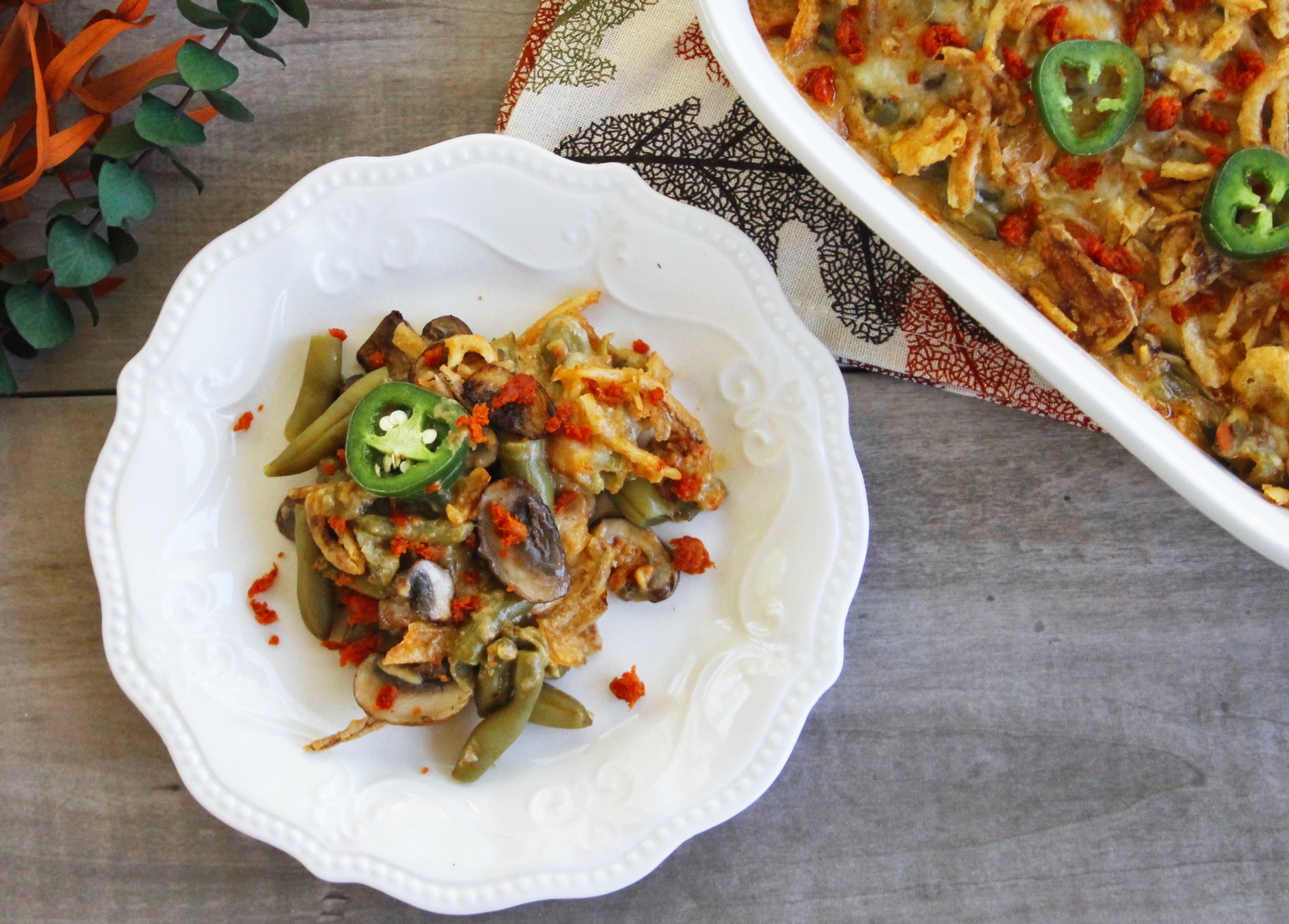 Spicy chorizo green bean