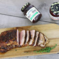 Strawberry jalapeno glazed pork tenderloin