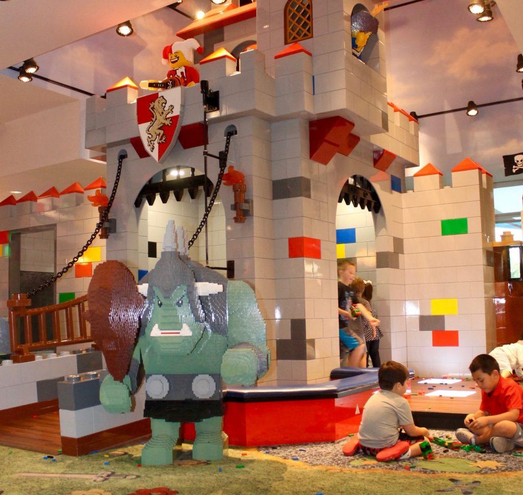 Legoland hotel lobby play area