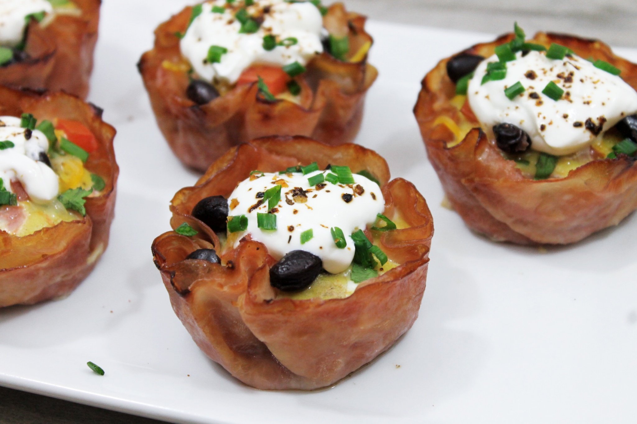 Spicy Southwest Egg and Ham Cups