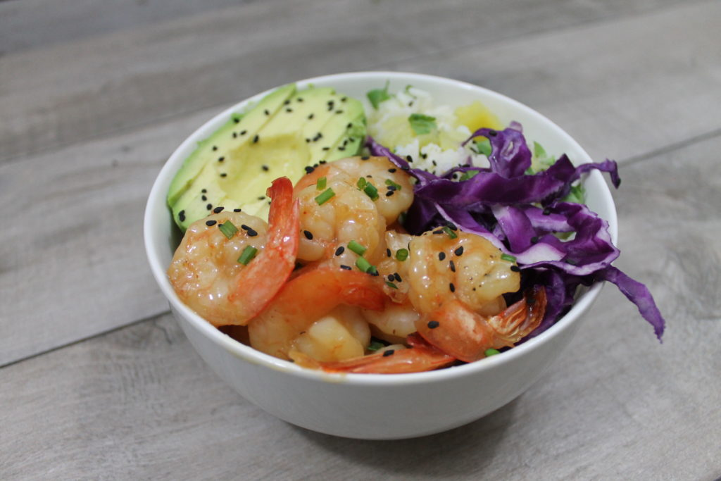 Orange Chipotle Shrimp And Rice Bowl - Growing Up Bilingual