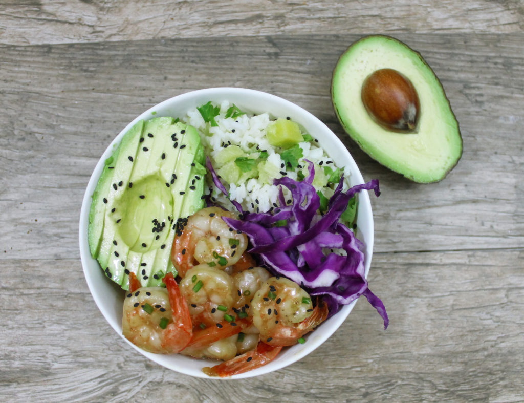 This delicious and easy to make orange chipotle shrimp and rice bowl ...