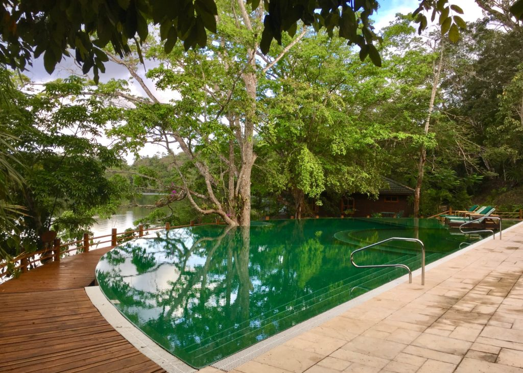 Infinity pool at las Lagunas hotel Guatemala