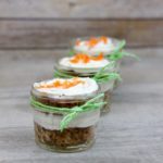 Carrot cake tres leches in a jar