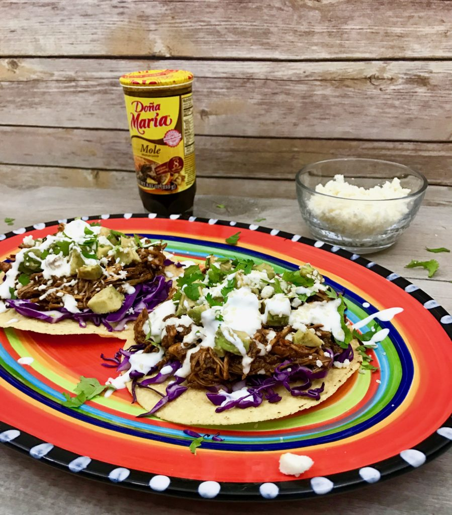 easy and quick mole tostadas recipe