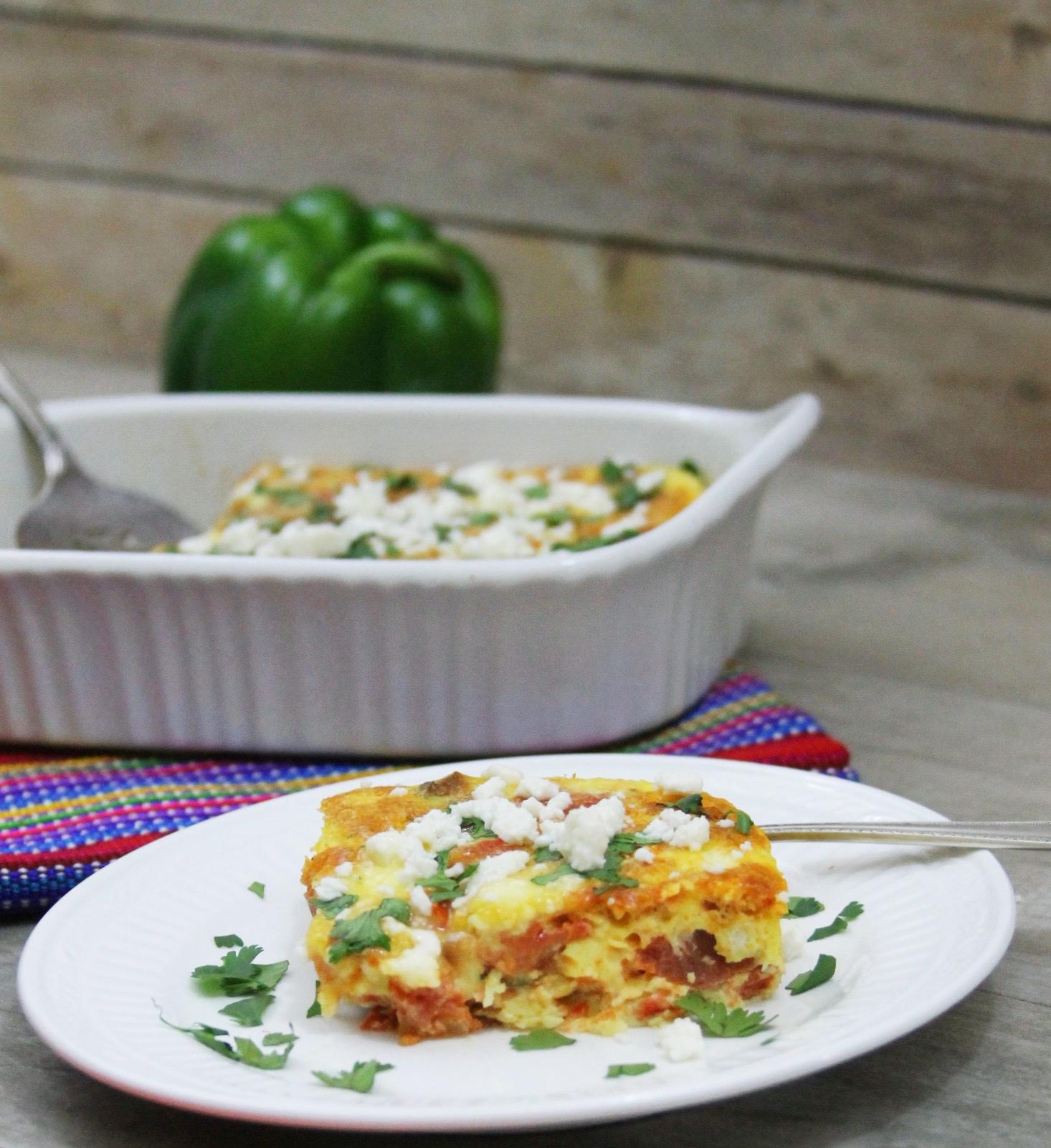 Baked havana style eggs wth chorizo