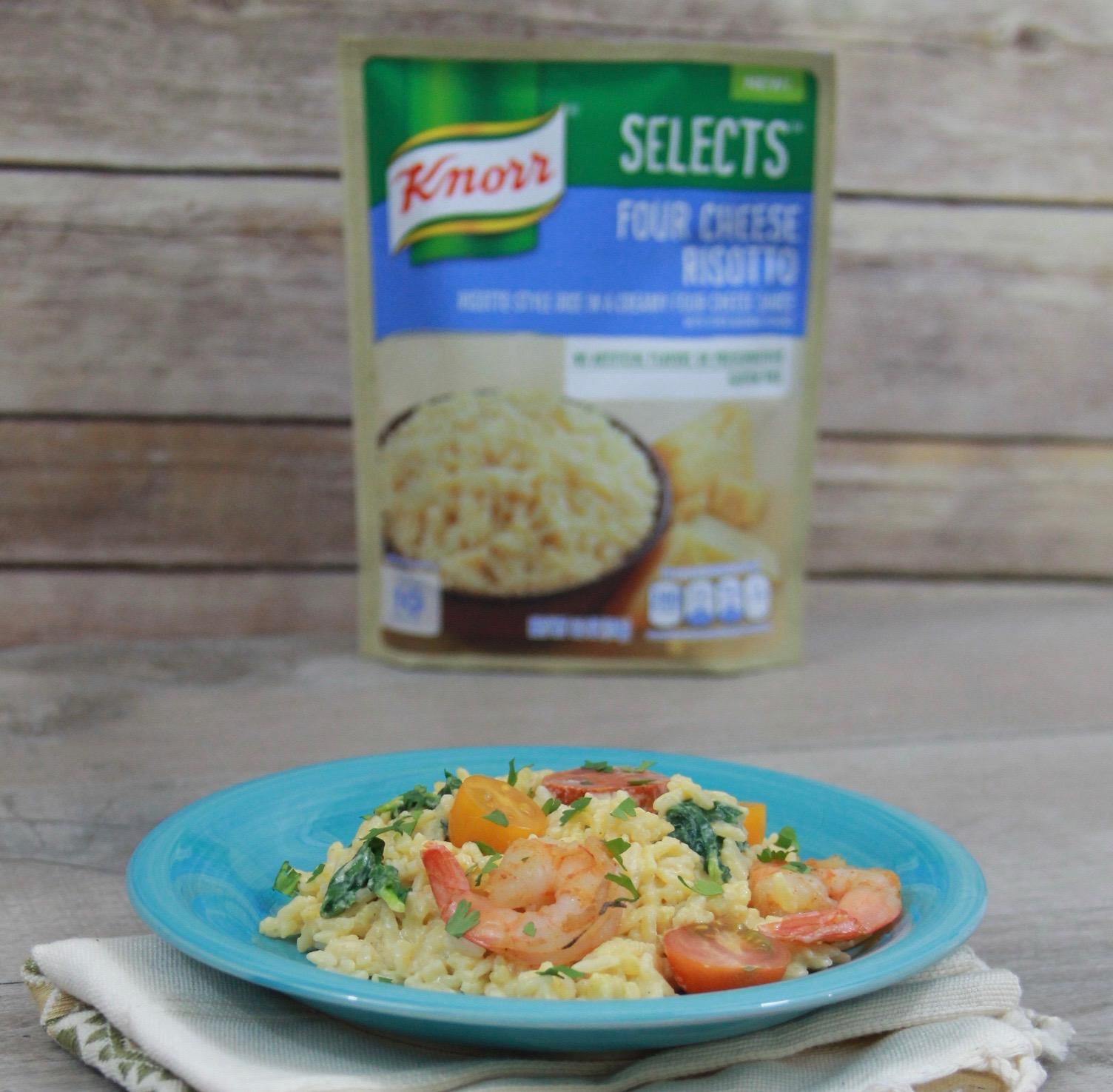 Garlic shrimp and chorizo risotto Knorr