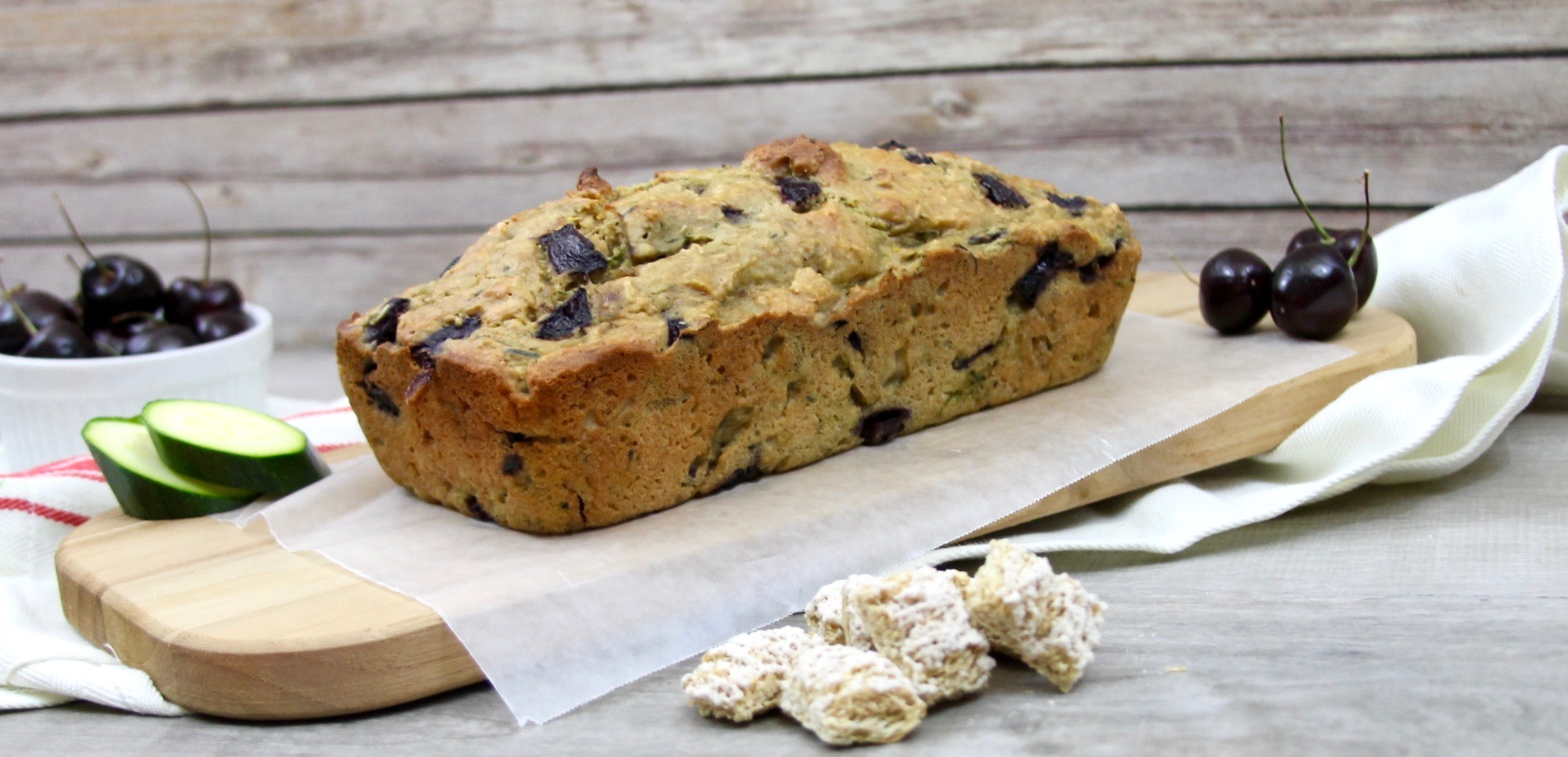 Easy Carrot, Zucchini & Cherry Bread